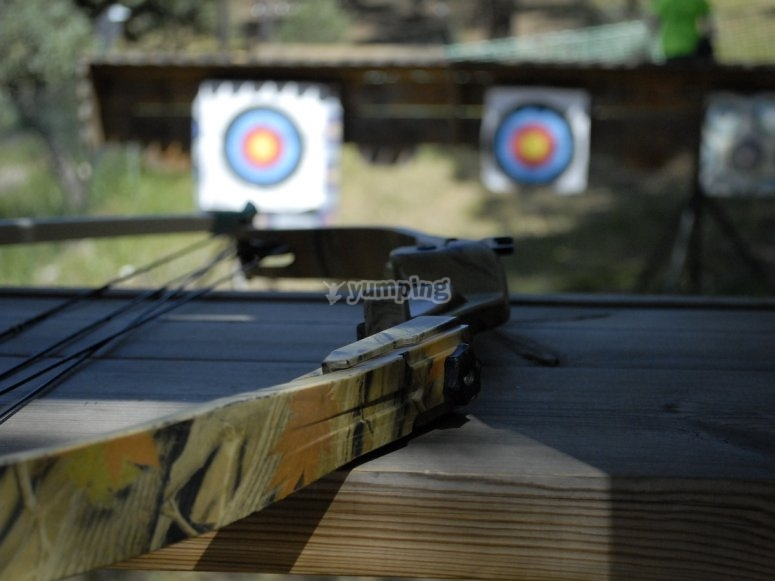 Everything ready for the archery activity