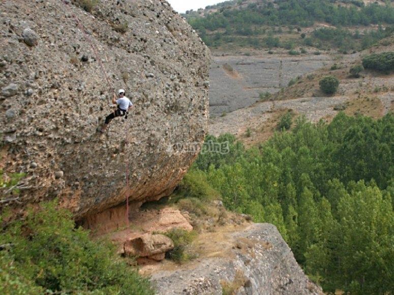 Escalada en pared natural