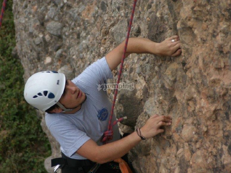 Sesion de escalada y rapel