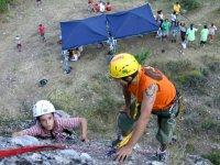 Sesión de escalada y rápel en Belorado medio día