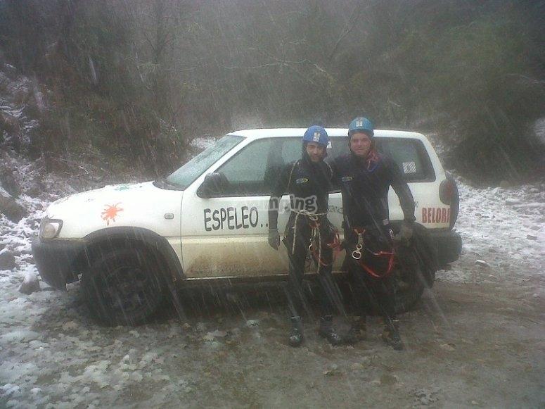 Canyoning in una giornata piovosa