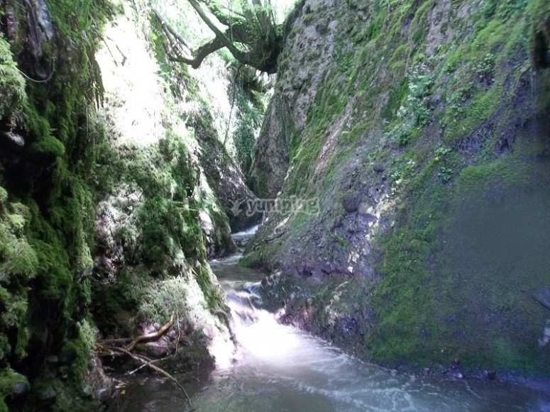 Inizio del canyoning