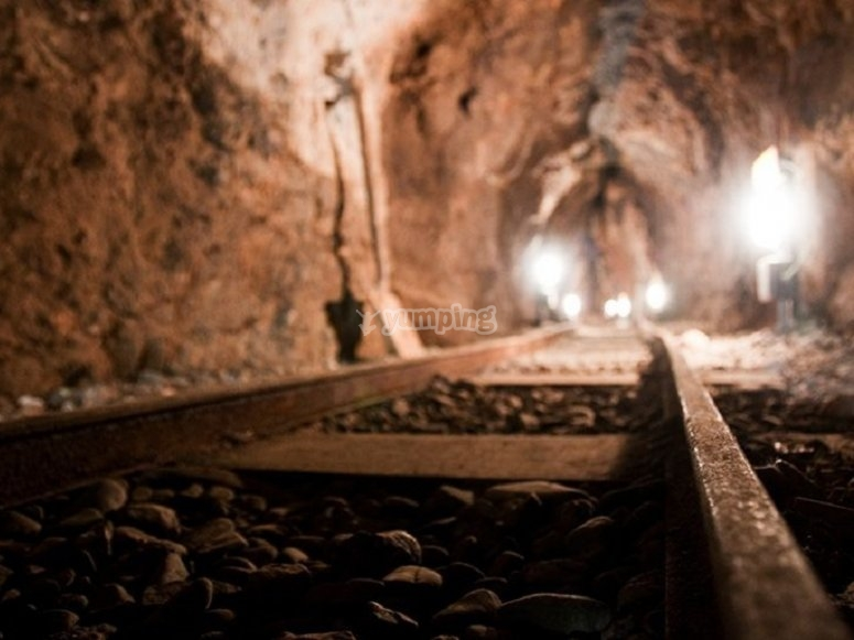 Vias en el complejo minero
