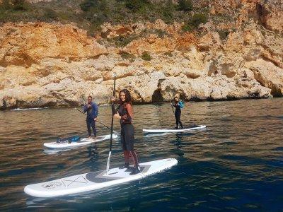 桨冲浪平水道在阿利坎特