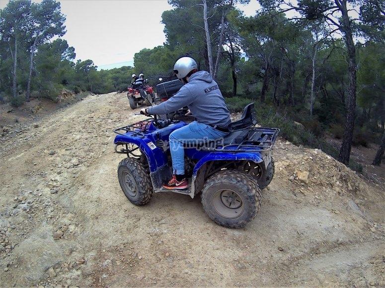 Pilotando un quad en Mallorca