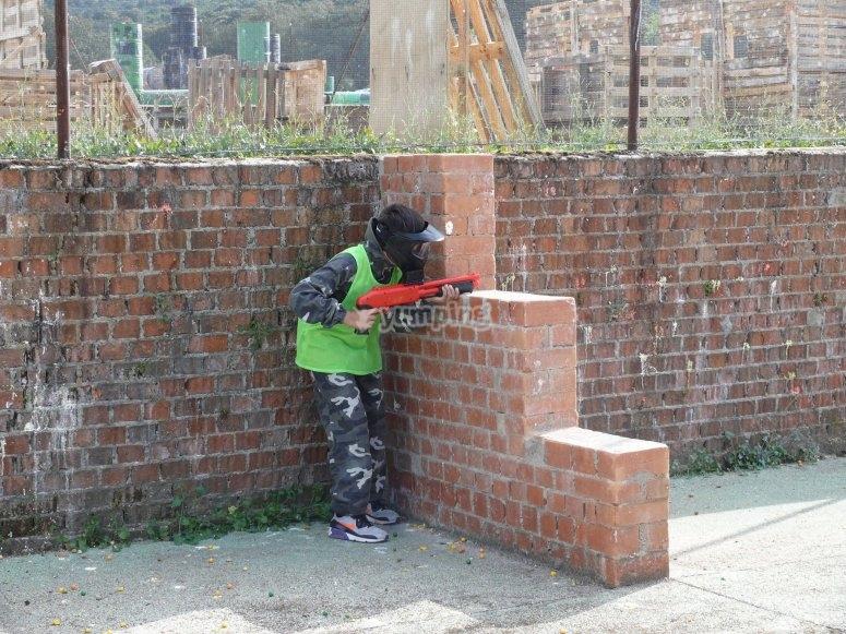 Paintball gun for the little ones