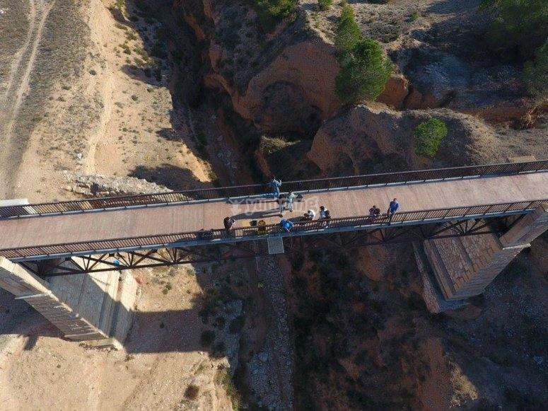 Vista aerea del puente