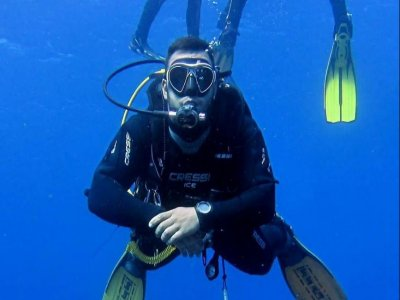 Scuba diving baptism in La Restinga PADI