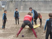 primera clase sobre la arena