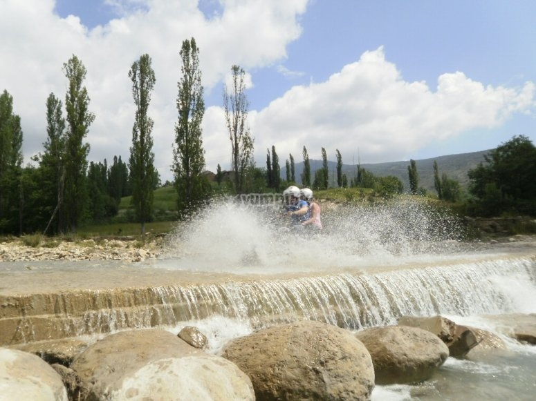 Off-road route through the Pyrenees  of Huesca