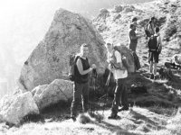 group of men in the mountain