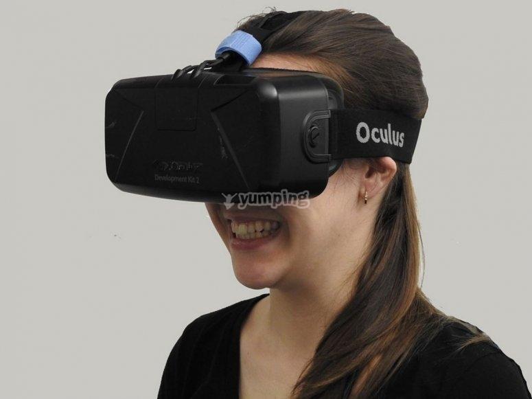 Con las gafas VR