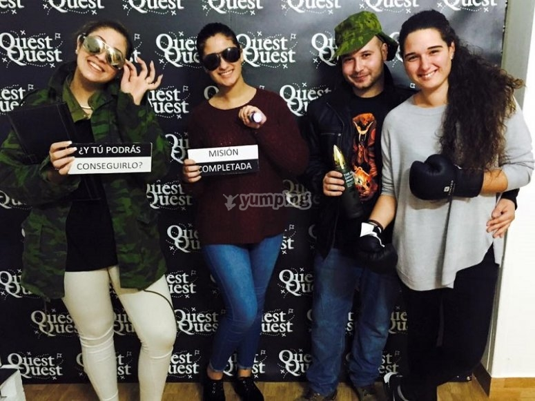 Escape room challenge completed