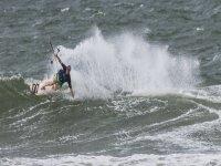 Disfrutando de la sesión de kitesurf