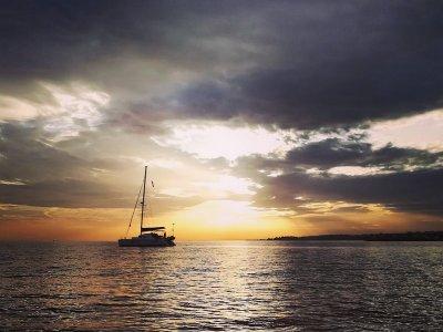 Alquiler de catamarán en exclusiva en Marbella 8h