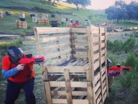Soft Paintball Game in Aznalcóllar, 100 Balls