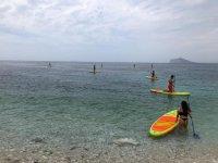 Paddel surf en la costa de Oliva