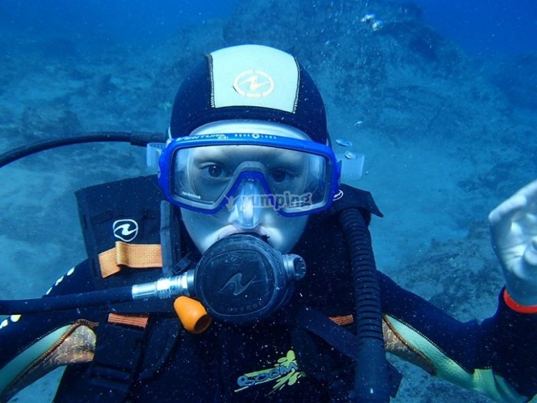 En plena inmersion en Canarias