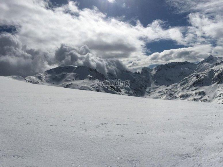 Paisajes nevados en Gredos