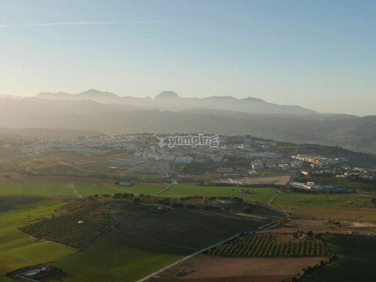 Panoramica de Ronda desde el aire