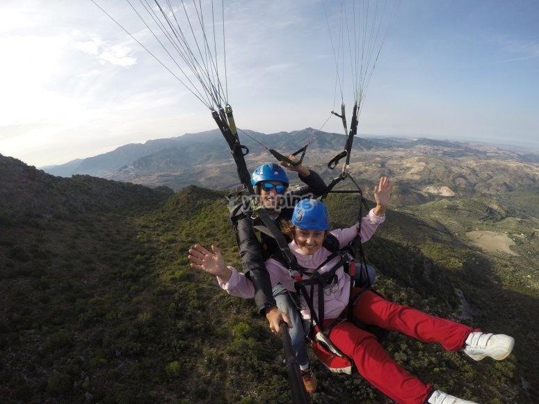 Compartiendo vuelo con el instructor