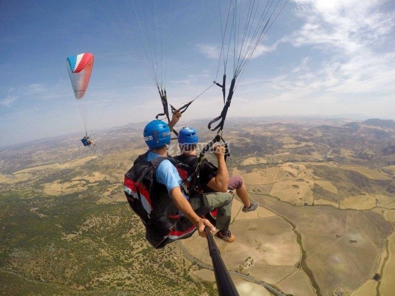 滑翔伞的风景