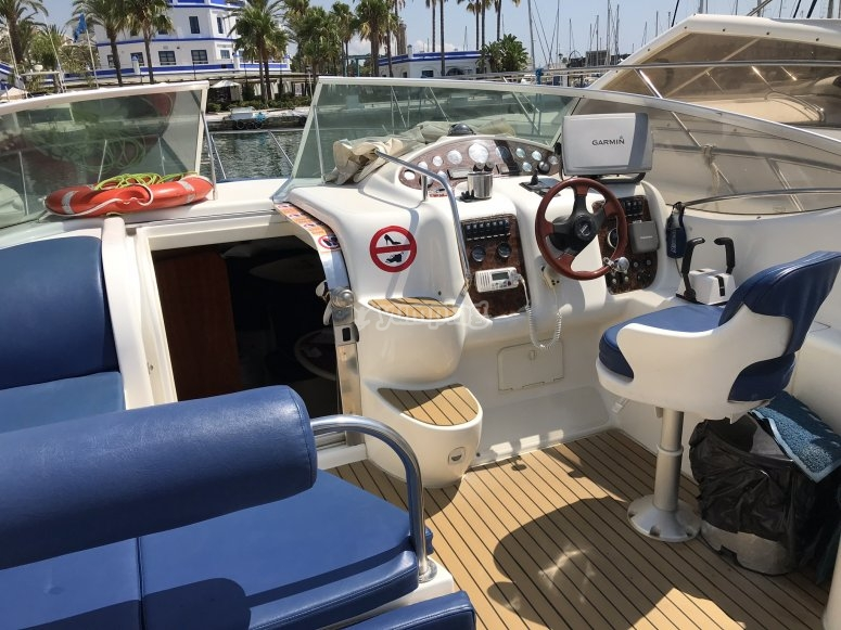 Area di seduta sulla barca