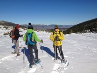 Sun day for snowshoes