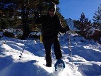 Raquetas en nieve polvo