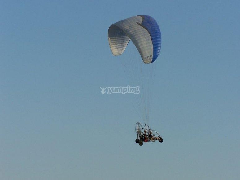 Paramotor flight over the coast of Granada
