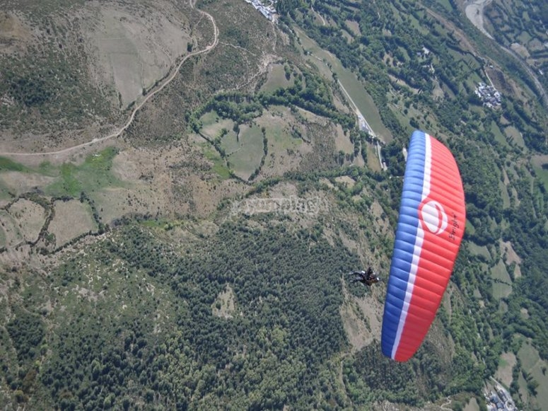 Paraglide seen from up high
