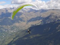 Paraglide flight near the Pyrenees