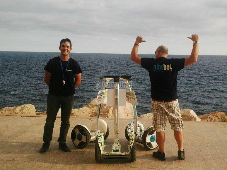 Segways ninebot en la costa