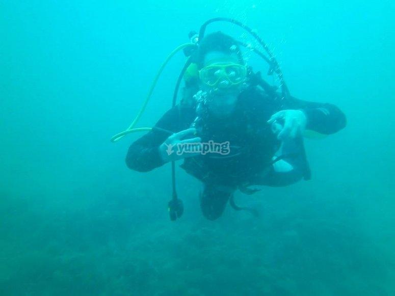 Formandose bajo el agua