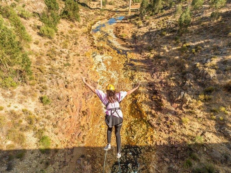 Salto de puenting en Huelva