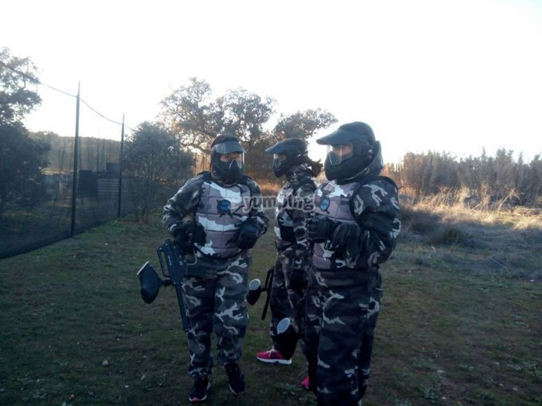 Military camouflage in paintball