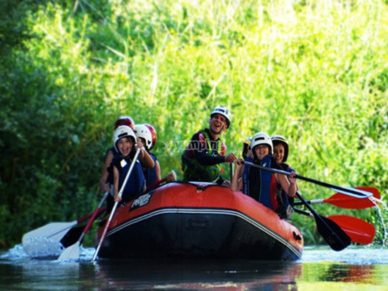Rafting en el campamento