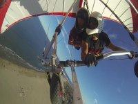 volando nella spiaggia di castellon