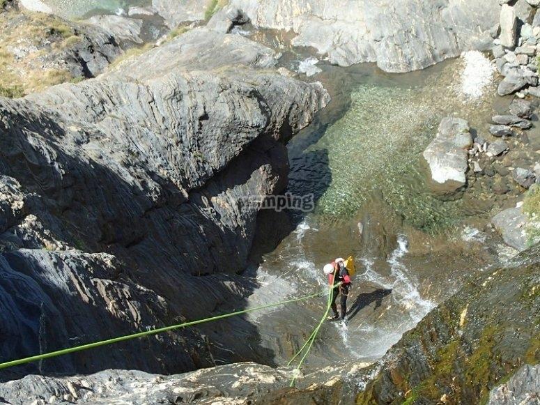 Descenso con cuerda en Ordesa y Monte Perdido