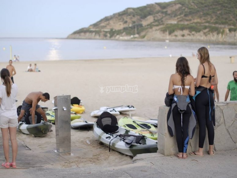Sesion de kayak en Tarifa