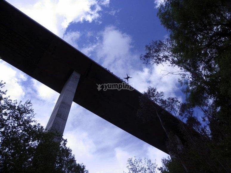 salto de puenting en Pontevedra