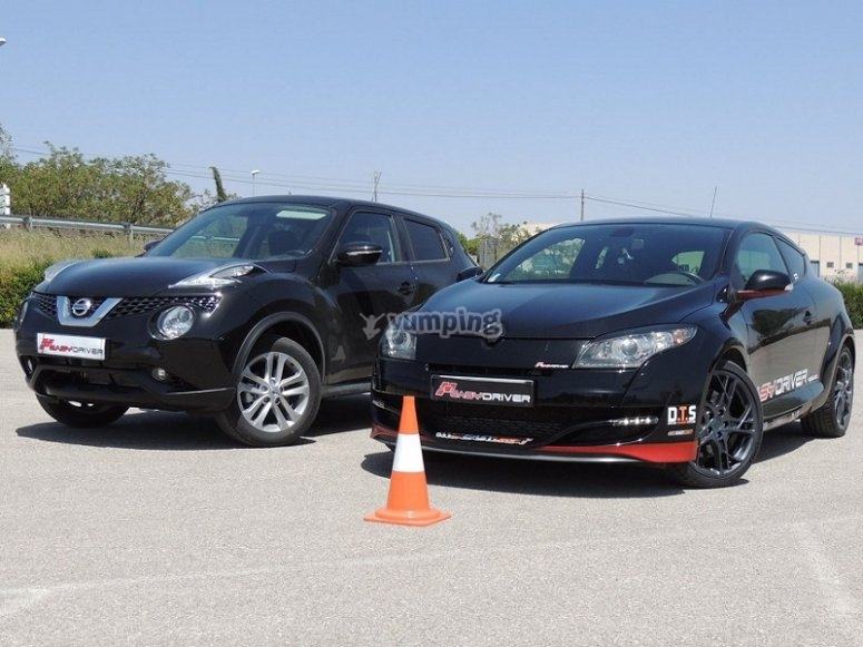 Vehicles for driving courses