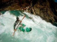 Bajando en el kayak