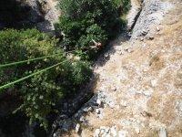 Hanging from the bridge in Malaga