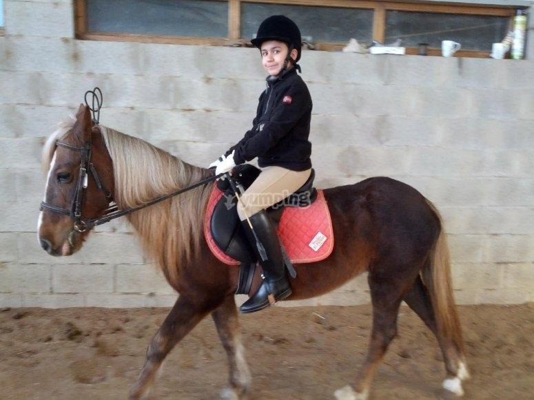 Clase de equitacion en Palencia