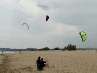 Kitesurfing nella sabbia