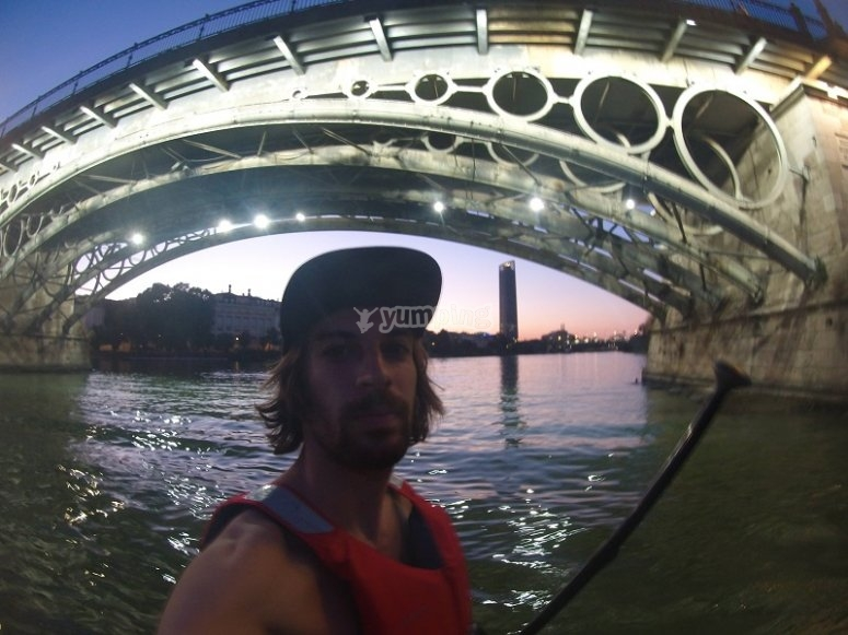 Under the Guadalquivir bridge