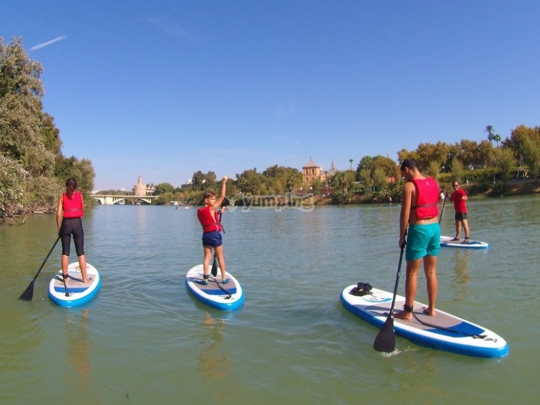 Paddle surf in Guadalquivir