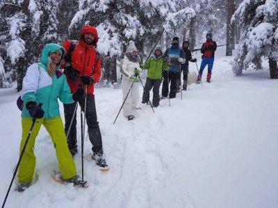 Raquetas de nieve en Navacerrada y comida parejas