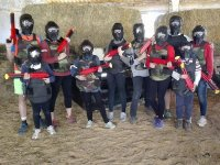 Partida de paintball familiar